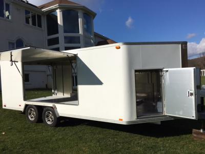 2009 TRAILEX ENCLOSED TRAILER CTE-80180 Absolutely loaded with every option, Extra head room